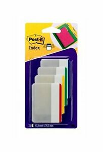3m Post it Index Strong Flat Filing Tabs Set Of 6
