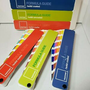Pantone Color Formula Guides Solid Coated Solid Uncoated And Solid Matte