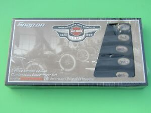 New Sddx50hdx Snap On Harley Davidson Motorcycle Images Screwdriver Set 5 Piece