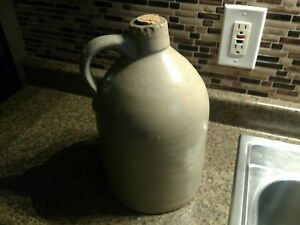 Stoneware Crock Whiskey Liquor Antique Vintage With Cork Original
