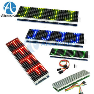 Max7219 4 In 1 Led Display Microcontroller 5p Line Dot Matrix Module For Arduino