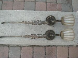 Pair Of Fine Art Lamps Wall Sconces 2005 Used