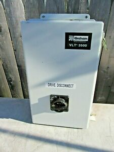 Hoffman Electrical Enclosure Control Panel Drive Disconnect Circuit Box Graham