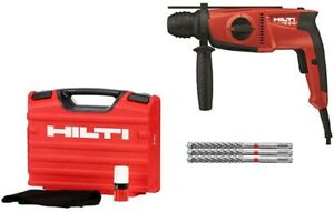 Hilti Hammer Drill Kit Corded Sds Plus Electric Power Tool Te 2 s 120 Volt Case