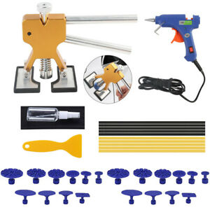 Auto Body Paintless Dent Removal Puller Tools Kits Hail Damage Door Dings Repair