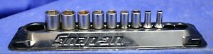 Snap On 112tmmsy 9pc 1 4 Drive 6pt Metric Semi Deep Metric Socket Set