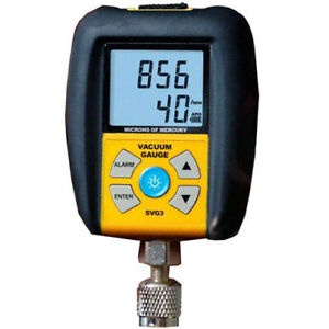 Fieldpiece Svg3 Digital Micron Vacuum Gauge With Easy View Hook