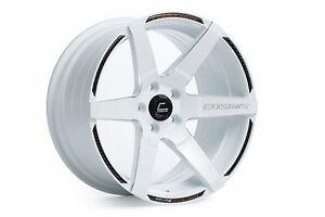 Cosmis Racing S1 18 10 5 5mm 5x114 3 White W Carbon Fiber Trim 2 Wheels Per