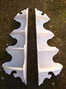 Decorative Pair Corner Wall Shelves Sconce S In Primer To Paint