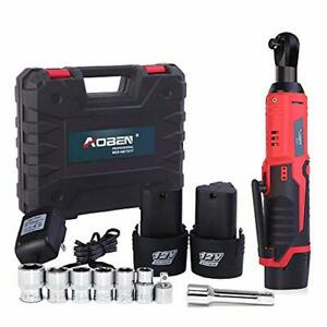 3 8 12v Cordless Electric Ratchet Wrench Set Aoben Power Tool Kit With Charger