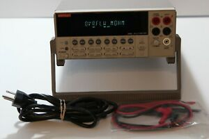 Keithley 2000 6 5 Digit Multimeter Dmm Precision Bench Lab Meter Test Leads