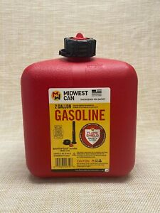 2 Gallon Plastic Fuel Can Airtight Sprout Gas Can