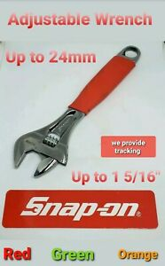 Snap On Tools 8 Handle Adjustable Wrench 0 24mm 0 15 16 flank Jaws 3 Colors