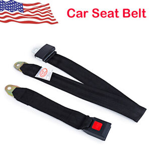 Universal Truck Car Seat Belt Lap Belts Adjustable Two 2 Point Bolt Safety Us