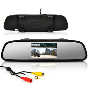 Car Accessories 4 3 Lcd Car Rearview Mirror Monitor For Reverse Backup Camera