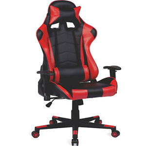 Gaming Executive Pu Leather Office Recliner Chair Ergonomic Computer Desk Seat
