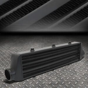 Full Aluminum Turbo 27 25 x7 x2 75 tube fin Fmic Front Mount Intercooler Black
