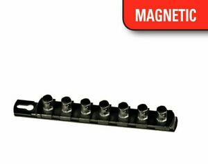 Ernst 8426m 8 Long 1 4 Drive Magnetic Socket Organizer Rail W 9 Clips Black