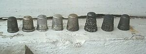 Lot Of 8 Vintage Sterling Silver Thimbles