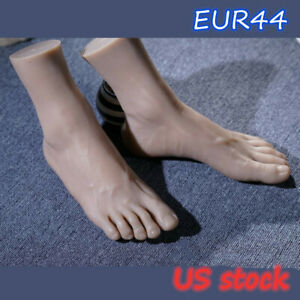 Silicone Mannequin Feet Men Model Legs Lifelike Eur44 One Right Or Left Display