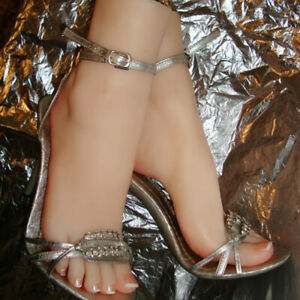 Silicone Right Or Left Lifelike Female Feet With Bone Display Legs Model Us Ship