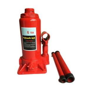 6 Ton Hydraulic Bottle Jack Stands Auto Shop Low Profile Heavy Duty