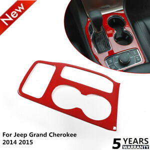 Car Gear Shift Panel Decorative Cover Trim For Jeep Grand Cherokee 2014 2018 Red