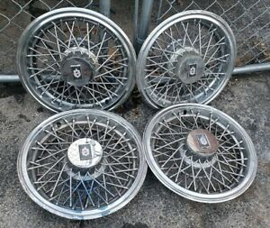 Set Of 4 Oem 1981 87 Oldsmobile Cutlass Supreme 14 Wire Hubcaps Wheel Covers