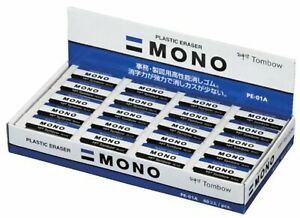Tombow Mono Plastic Eraser Pe01 40 pack Free Shipping With Tracking New Japan