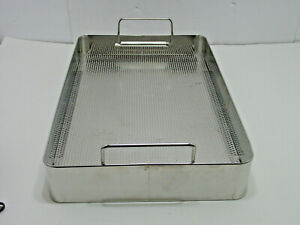 V Mueller Bp2 2as Genesis Stainless Sterilization Container Basket Stackable Cd2