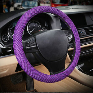 Purple 38cm 15 Summer Breathable Car Steering Wheel Cover