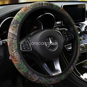 Easy Install Camo Bark Stretchy Neoprene Car Steering Wheel Cover Grip
