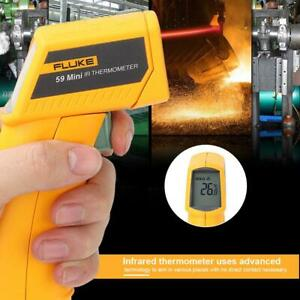 Fluke 59 F59 Lcd Backlight Portable Ir Infrared Thermometer Temp Tester