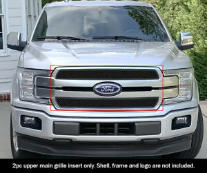 Black Mesh Grille Fits 2018 2020 Ford F 150 King Ranch Plantium