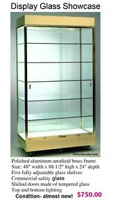 Glass Countertop Display Case Store Fixture Showcase With Front Closure