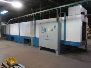 Complete Powder Coating System W Comet Reclaim Booth Washer Oven And Conveyor