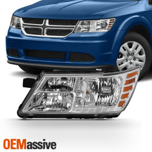 Fits 2009 2018 Dodge Journey Chrome Left Driver One Side Headlight Replacement