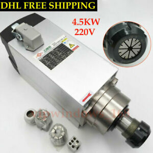 4 5kw Cnc Spindle Motor 220v Air cooled 18000rpm Er32 Milling Router Woodworking