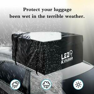 Roof Cargo Bag 20 Cubic Feet Waterproof With 2 Straps For All Cars W o Roof Rack