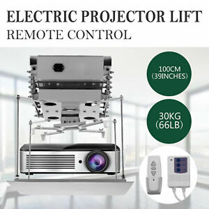 100cm Projector Bracket Motorized Electric Projector Lift W Remote Control 110v