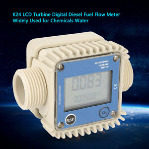 K24 Lcd Turbine Digital Flow Liquid Meter For Chemicals Water Small Size