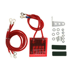 Auto Fuel Saver Voltage Stabilizer Regulator With Wries Kit Universal Red