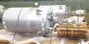 600 Gallon Lee Stainless Reactor Vacuum Kettle With Jacket And High Shear Mixer