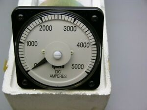 Yokogawa Db 40 103121cazz7 0 5000a Dc Panel Mount 4 d Ammeter Calibrated 3 00