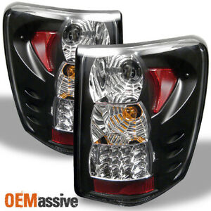 Fits 99 04 Jeep Grand Cherokee Sport Black G2 Led Tail Brake Lights Left right