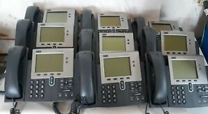 9 Cisco Cp 7941g Voip Ip Telephones