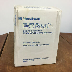 Ez Seal Pitney Bowes Sealing Solution For Mailing Machine Four 16 Oz Bottles