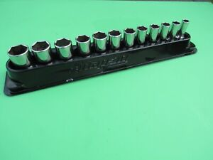 Snap On 212fsmsy 3 8 Dr Metric 6 Point Semi Deep Mid Socket Set 8mm To 19mm