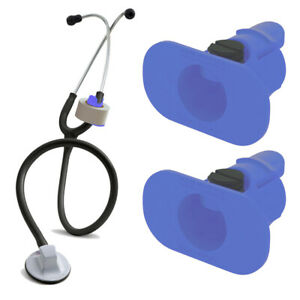 2 Pack Of Blue S3 Stethoscope Tape Holders Littman Nursing Scrubs Ems Emt