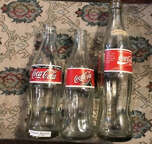 Coca Cola bottles Estonia, Brussels & Germany Empty early 2000s clean lot